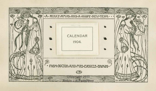 3 - Block print - Christmas Calendar for 1903